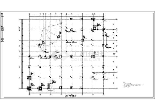 某学校框架结构食堂浴池结构设计施工图