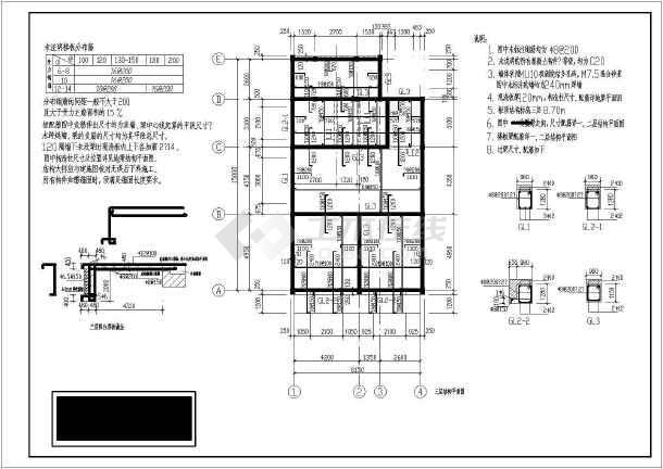 某三层砌体结构住宅楼结构设计施工图