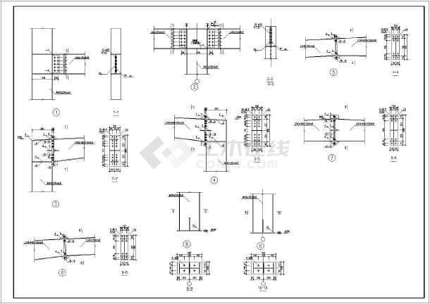 某地2层钢结构框架结构部分施工图