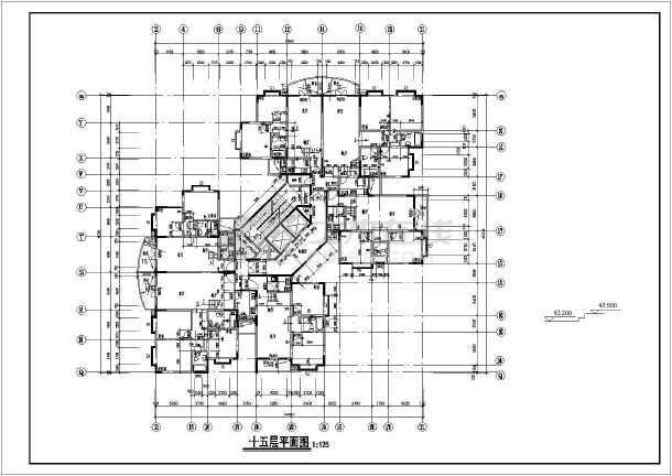 跃层平面图,a-2m轴立面图,2m-a轴立面图,1-1剖面图,厨房卫生间大样图.