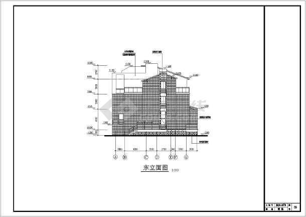 某地3层框架结构小型别墅建筑施工图