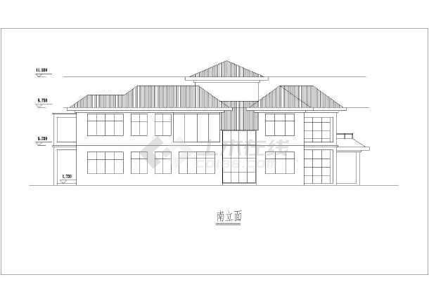 某两层和三层独栋坡屋顶别墅建筑设计图