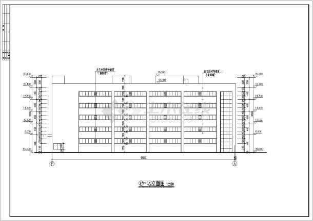 某公司5层混凝土框架结构生产大楼建筑施工图纸