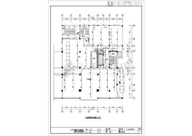 某结构十框架酒店软件房间喷淋v结构施工图广告设计应该知道什么二层图片