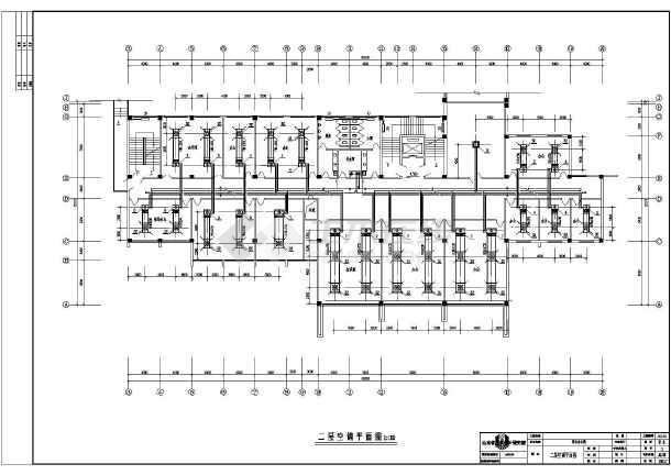 图纸 暖通设计图 中央空调 办公楼空调设计图 某五层办公楼风机盘管加
