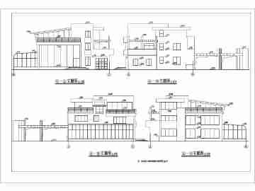 某地3层框架结构现代别墅建筑施工图(带游泳池)