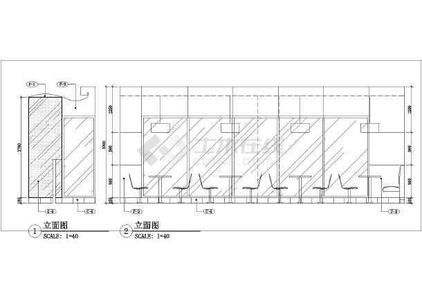某城市餐饮业肯德基kfc建筑设计图纸