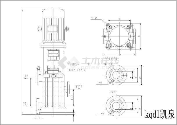 各种图纸水泵规格的三视图图纸型号_cad详图靖西找建房哪到简图图片