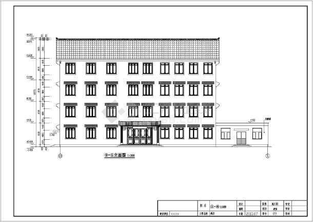 某地四层徽派风格宾馆建筑设计施工图