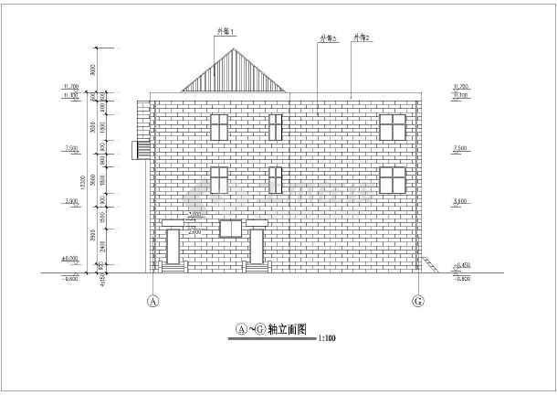 该图纸为某地区新农村三层活动室建筑设计方案,一层为卫生室等,二层