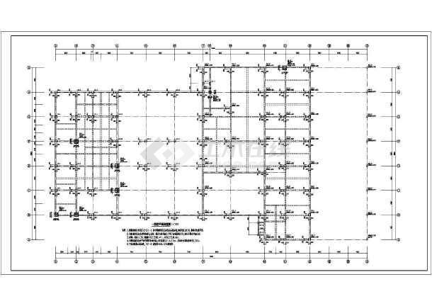 【三层框架结构】三层框架结构宝马4s店结构施工图
