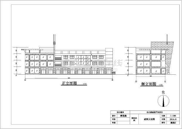 图纸 建筑图纸 土木工程毕业设计 房屋建筑学课程设计 某三层框架结构