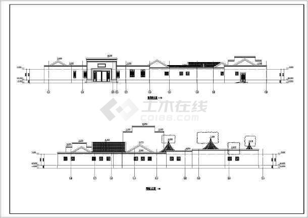 庄园建筑结构施工图,主要功能为餐饮,娱乐,居住等,平面布局采用院落式图片