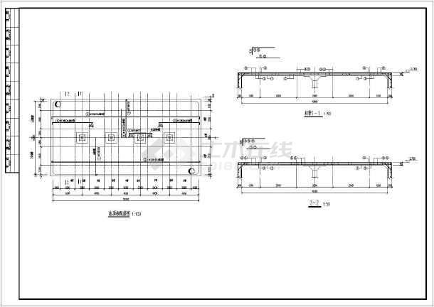 某1000立方室外消防名称施工图_cad水池下载CAD层图纸图IELIFF图片