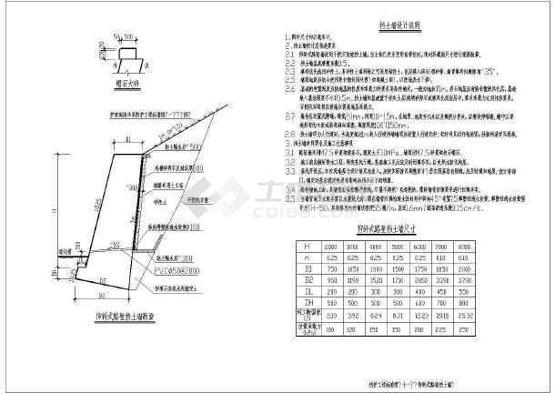 边坡支护处理工程布置图及细部大样图-图3