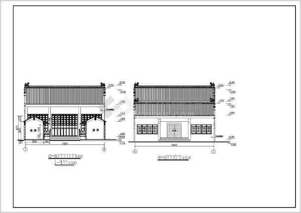 某地村部祠堂建筑,结构设计施工图