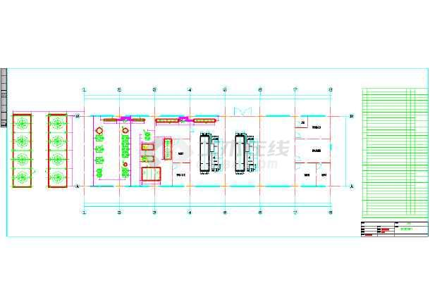 机场直燃机房暖通空调系统设计施工图图片2