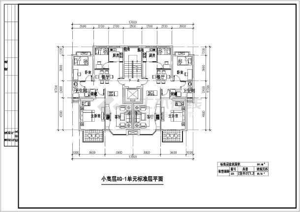 【上海市】某小高层住宅楼100平米左右户型图9张