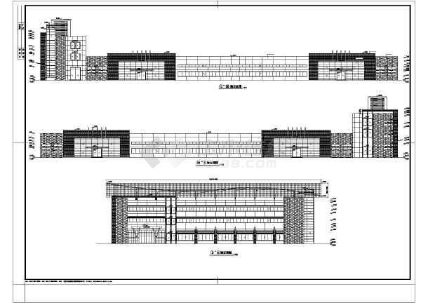 【江苏省】某工厂钢结构车间建筑设计图图片
