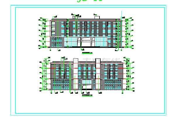 某地学校实训楼建筑设计施共图(全套)