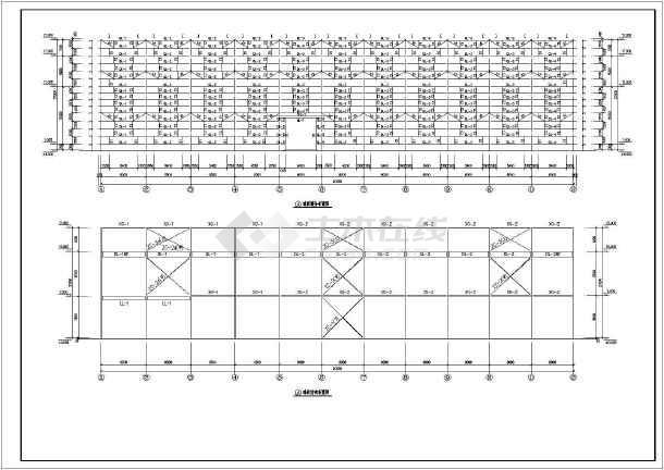 50吨重级吊车炼钢厂房建筑设计施工图_cad图a吊车字体v吊车图片