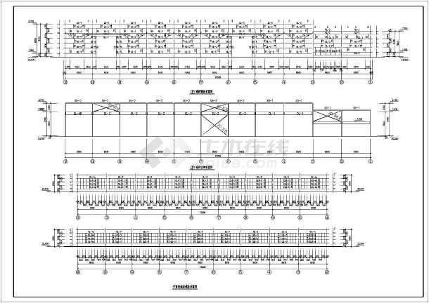 50吨重级厂房定制吊车建筑设计施工图屋设计师炼钢v厂房全图片