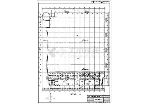 某局部二层轻钢厂房建筑,结构施工图