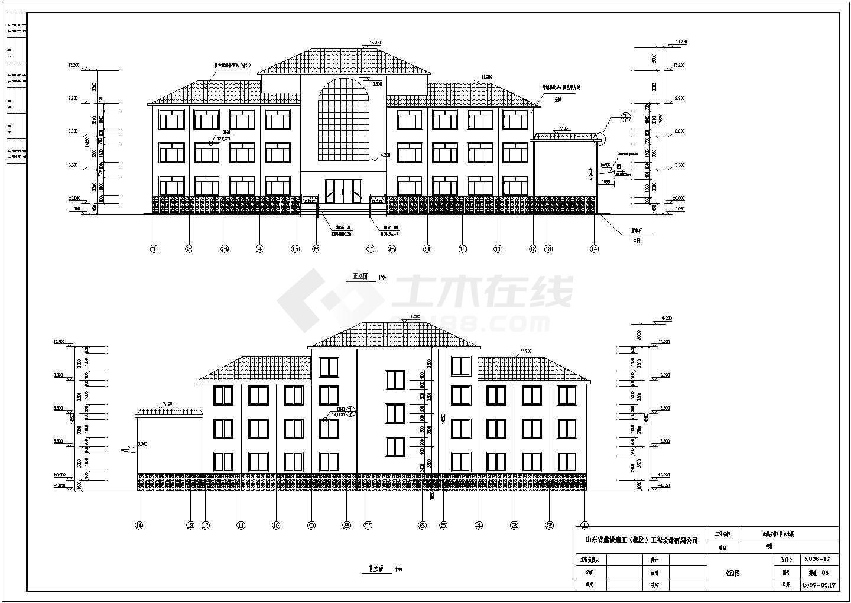 某地三层钢结构办公楼建筑设计施工图