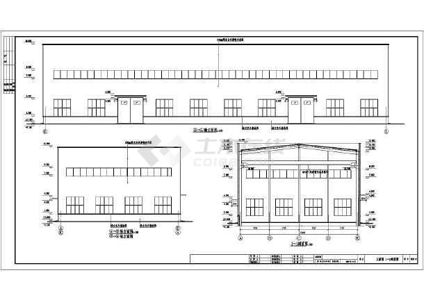图纸 建筑结构图 钢结构图纸 门式刚架 某单层汽车修理中心钢结构设计