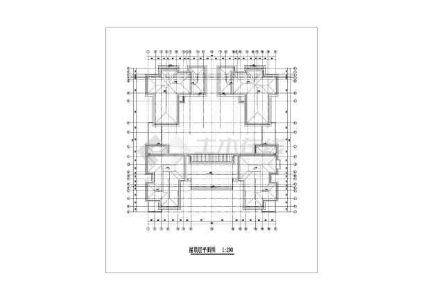 两层框架结构中式院墅建筑设计方案图纸,该图纸包括:建筑各层平面图图片