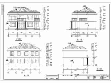农村二层小别墅结构设计施工图(含建筑设计)