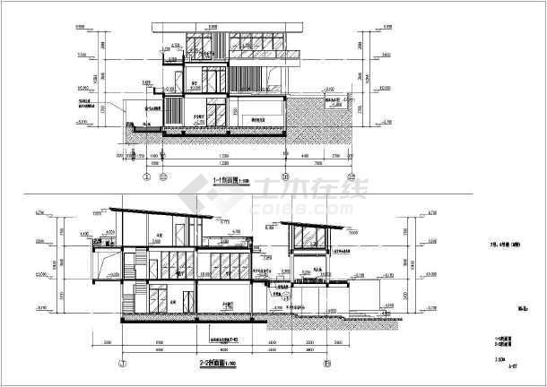 某地两层框架结构别墅建筑设计施工图(cad图纸下载)