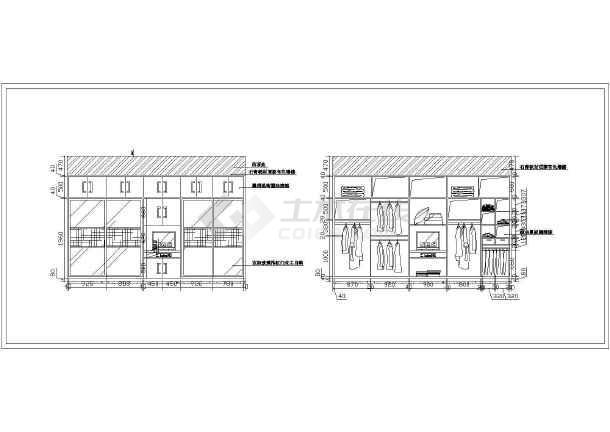 主卧室衣柜内部结构图