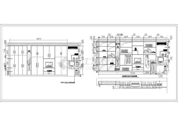 衣柜设计图 衣柜设计图cad图纸