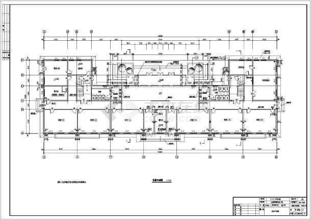 北京三层砖混结构中学教学楼改造建筑设计施工图