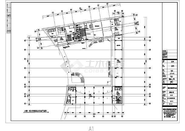 某大学高层框架结构学生公寓太阳能给水设计图