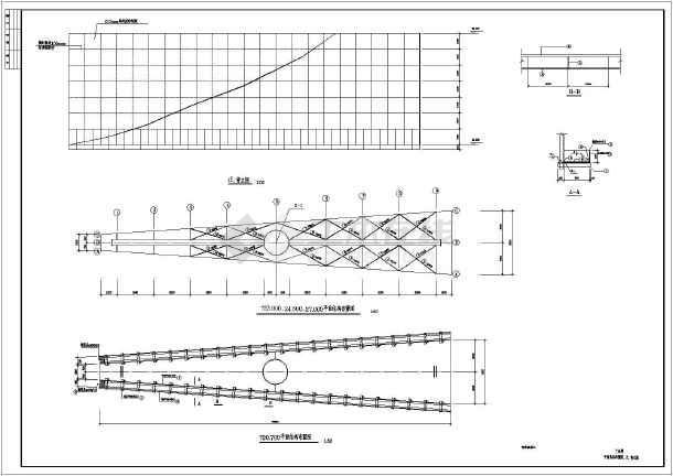 某地双面广告牌钢结构设计施工图纸_cad图纸cad怎么尺寸建筑图纸看图片