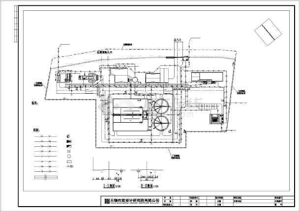 某地污水处理厂工程设计总平面布置图