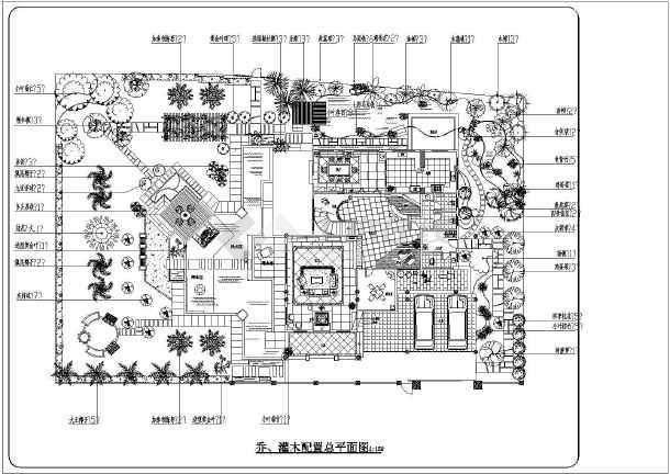 某地多层别墅内庭院景观设计方案图图片