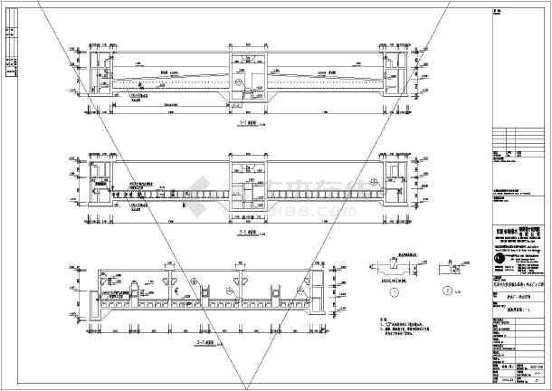 某水厂工程净水车间建筑结构施工图纸