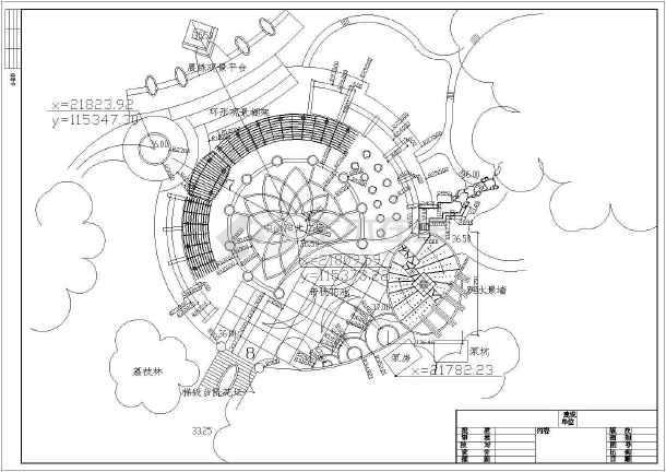 山顶广场园林绿化景观规划设计图纸