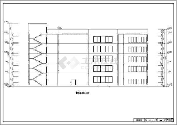 某5层框架结构科教馆建筑方案设计图