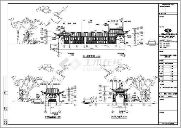 湖断桥游乐船服务设施建筑方案设计图_cad图图纸桥梁设计电气图片