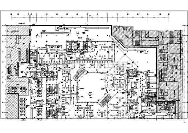 某大型地下三层商业综合体,主题酒店中央空调设计图纸