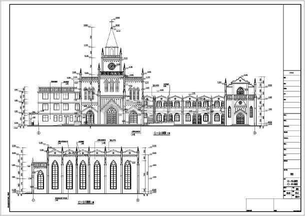 图纸包括:效果图,建筑设计说明,各层平面图,立面图,剖面图,楼梯详图