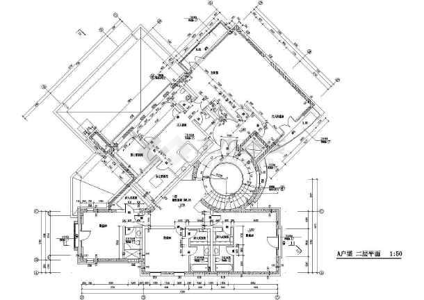 【北京】经典别墅建筑施工图,含效果图-图2