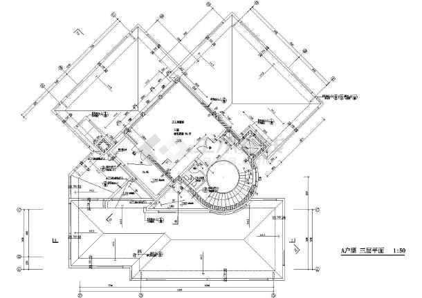 【北京】经典别墅建筑施工图,含效果图-图3