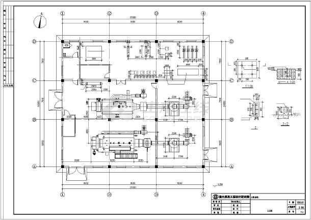10吨锅炉房设计施工全套图图片