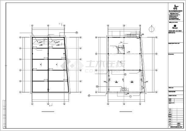 某飞机座椅厂框架结构办公楼及钢结构厂房施工图