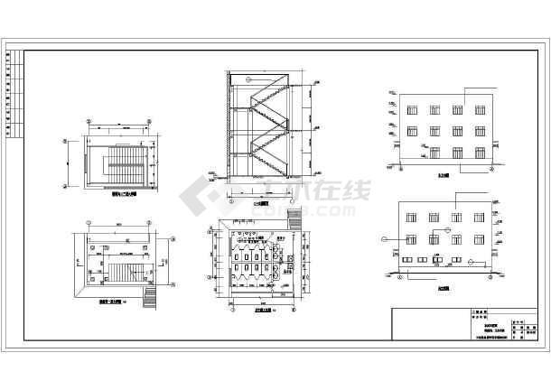鋼結構廠房        圖紙包含:建築設計說明,各層平面圖,立面圖,剖面圖